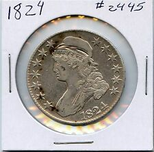 1824 50C Capped Bust Half Dollar. Circulated. Lot #2102