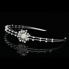 Bridal Rhinestones Crystal Bridesmaid Flower Girl Wedding Tiara Headband 8735