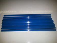 QTY 5 (FIVE) A4 SLIDE BINDERS 5MM CAPACITY BLUE - LENGTH 297 MM-SQUARE