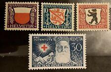 Série PRO JUVENTUTE 1928 : Neuf * MH , Mi 229-232