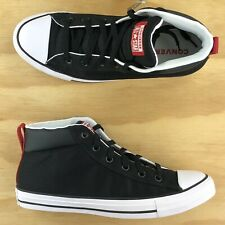 Converse Chuck Taylor All Star Street Mid Black Athletic Sneakers 163404C Size