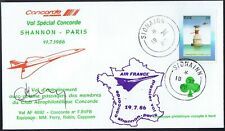 19.7.86 SPECIAL AF CONCORDE Cpt FERRY SIGNED COVER-SHANNON - PARIS_SCARCE