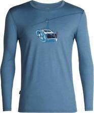 Icebreaker Tech Lite Ls Crew Shirt (M) Camper Lift / Granite Blue