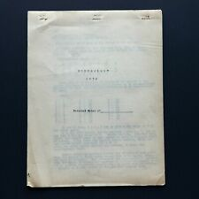 Antique VTG 1930s NUMEROLOGY Original Document TYPEWRITTEN TRAINING MANUSCRIPT