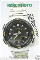 AQ-S800WD-1E New Casio Watch Tough solar 5 alarms World time Stopwatch Steel