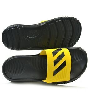 Alphabounce BB Slippers Adidas FX1327 Men Swim Sandals Yellow/black