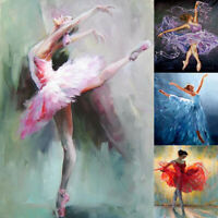 5D DIY Full Round Diamond Painting Ballet Girl Art Cross Stitch Home Decor