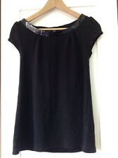 H&M Black Top With Pallets, Short Sleeve, Cute. Size 12