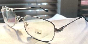 New Fred Lunettes Caravelle Silver Rope Frames 52mm Eyeglasses Authentic