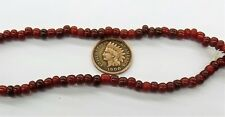 BLOOD Red Rare White Heart Trade Beads antique style  Bin L3