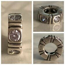 PANDORA WHITE NORTHERN LIGHTS SPACER REF 790368WCZ 925 ALE DISCONTINUED