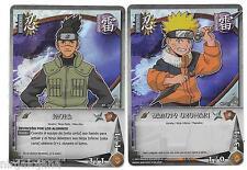 NARUTO UZUMAKI N1-01 + IRUKA N1-08 FOILS ! Lote cartas NARUTO CCG Español 2002