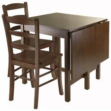 Winsome Lynden 3 Piece Drop Lift Dining Set in Antique Walnut