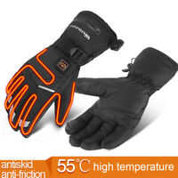 Motorcycle Electric Heated Gloves Winter Warmer Touch Screen Battery