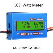 Digital LCD Watt Meter 60V 100A Battery Balance DC RC Volt Ammeter Amp Analyzer