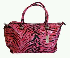 LOCKABLE ladies P.V.C Funky Tiger Secure Anti Theft Travel Beach Holdall Bag