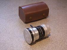 Kern Paillard Switar 10mm 1:1.6 Movie Lens with Caps and Bag