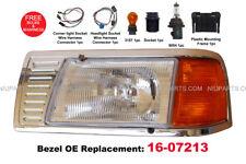 Peterbilt 377 Headlight w/ Adjusters & Corner Lamp and Bezel Chrome 16-07213 LH