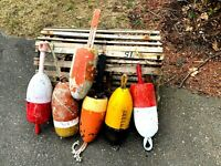 Vintage Maine Lobster Trap Buoys   - Lot of 6 - Nautical