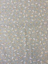 Fabric Freedom FF12 Daisy Print Khaki Cotton Fabric By The Half Metre