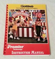 Gottlieb Premier Hot Shots Pinball Machine Original Manual & Schematics Nos!