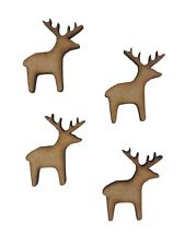 16x Christmas Normal Reindeer 3cm Wood Craft Embelishments Laser Cut Shape MDF