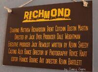 Richmond Tigers Movie Theme Sign Past Players & Dustin Martin Etc Retro Footy