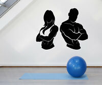 Vinyl Wall Decal Gym Girl Guy Muscle Fitness Beautiful Body Stickers (2048ig)