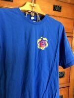 Ring Spun T Shirt Size XL Blue 110% Cotton  Energy Mens Size XL