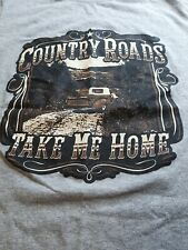 TAKE ME HOME COUNTRY ROADS truck T-Shirt Gray Graphic ladies Small  petite