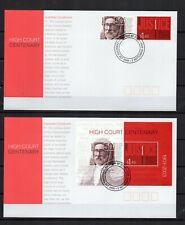 Australia 2003 high court justice-series 2 tp + 1 block on 2 envelopes fdc