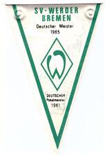 Fussball Football NESQUICK WIMPEL DEUTSCHER MEISTER 1965 * SV WERDER BREMEN