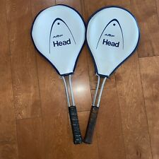 New listing Old Vintage pair of AMF Head Master Aluminum Tennis Racket Racquets & covers