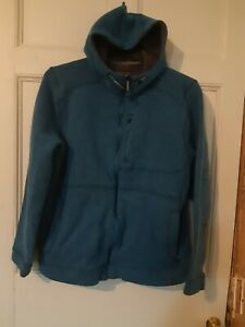 L L BEAN Turquoise Blue Teal Knitted Hoodie L