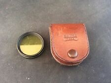 Vintage  yellow light filter - Carl Zeiss Jena in leather case Gelbglasfilter