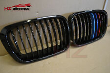 Gloss Black with M Colour Kidney Grills BMW E46 4DR 3 Series 1998 2001 UK STOCK