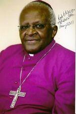 Desmond Tutu signed autograph Nobel Peace Prize Rare COA LOOK!