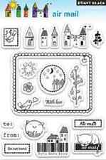 Free Shipping! Reduced - Black Clear Stamps - Air Mail - Nip - 17 Stamps 30-072