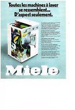 PUBLICITE  1974    MIELE  lave linge   machine  à laver