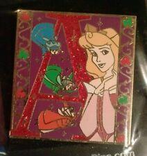 DisneyDRL WDW Glitter Sleeping Beauty Aurora Princess Storybook Initial A Pin