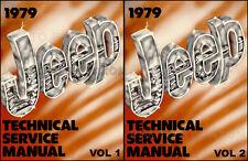 1979 Jeep Repair Shop Manual CJ5 CJ7 Wagoneer Cherokee Truck Renegade Honcho