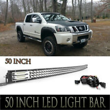 "For Nissan Titan Upper Roof Mount 50"" 684W TRi-Row LED Light Bars Combo"