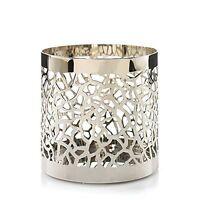 Matrix Brushed Silver Jar Candle Holder G26281