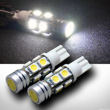 2pc White T10 Wedge 1 High Power+8 SMD LED Parking/Turn Signal/Tail Light Bulbs