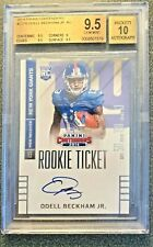 2014 Contenders ODELL BECKHAM Jr. Rookie Ticket Auto RC BGS Gem Mint 9.5/10 Auto