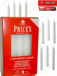 Prices Household Candles 2cm White 5 Hours Long Burning Time 5,10,20,or 30 Pack