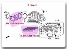 2 Pcs Engine Air Intake Hose & Air Filter Fits: Honda Odyssey 2005-2006 V6-3.5L