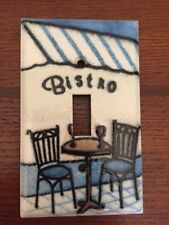 "Single Switchplate Metal ""Bistro� Pattern"