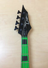 CUSTOM ZONE Nuclear Green 4-String Electric Bass Guitar + Free Gig Bag,Strap