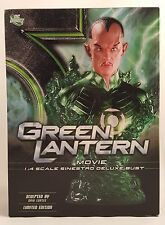 "Dc Direct Green Lantern Movie Sinestro 7.75"" Deluxe Bust ~Unopened~ Dc Comics"